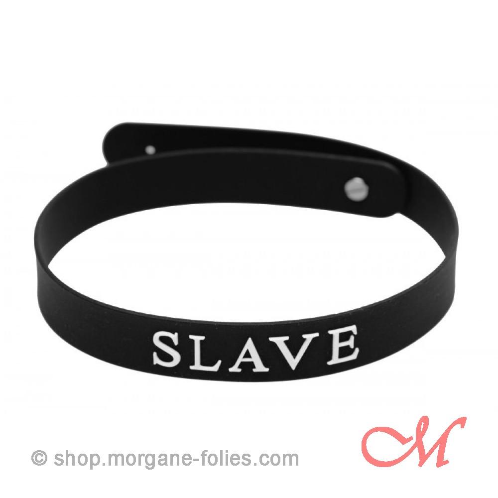 """Collier Silicone """"Slave"""""""