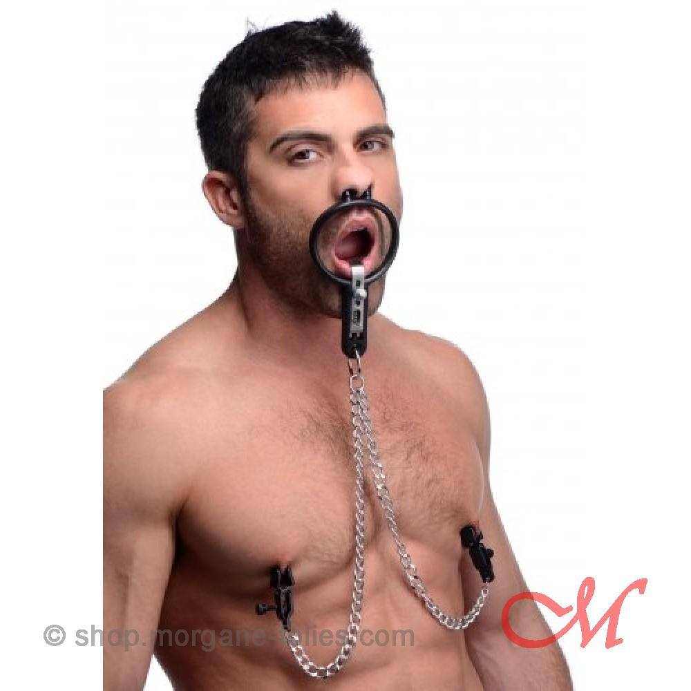 Ecarteur de Bouche avec Pinces à seins