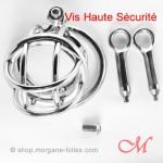 Cage de Chasteté La Prison de Morgane SUR-MESURES Vis Haute Sécurité