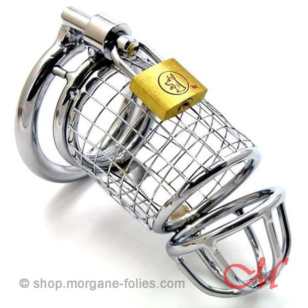 """Cage de Chasteté """"Lancelot"""" Acier"""