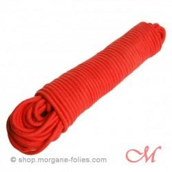 Corde de Bondage Coton Rouge 30m