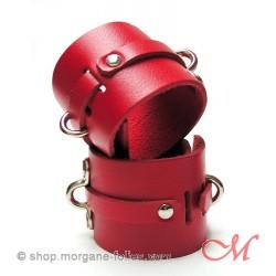 Menottes de Luxe Cuir Rouge
