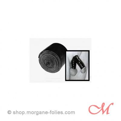 Petite Bande de Bondage Latex Noir 2,5 cm  x 2,4 m