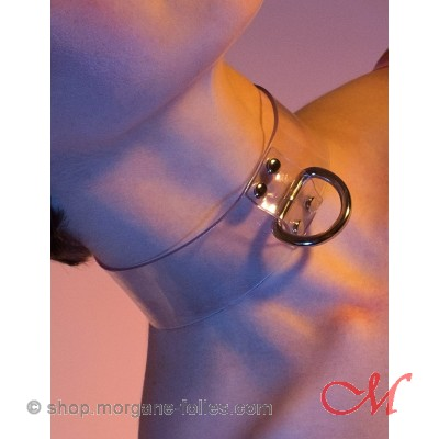 Collier de Bondage en Vinyle Transparent -M