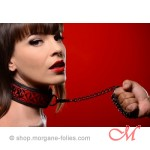 "Collier et Laisse ""Crimson Collection"""