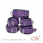 Ensemble de bondage en cuir violet