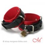 Menottes de Luxe Cuir Rouge & Noir